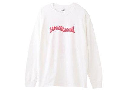 X-Girl Distorted Logo L/S Tee Whiteの写真