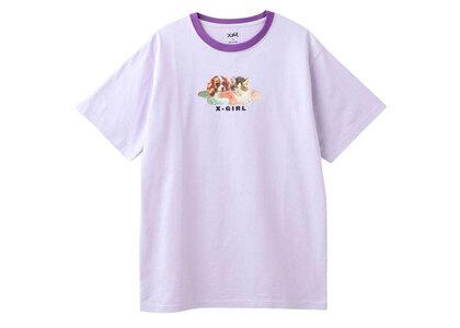 X-Girl Dog & Cat Angel S/S Tee Light Purpleの写真