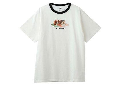 X-Girl Dog & Cat Angel S/S Tee Whiteの写真