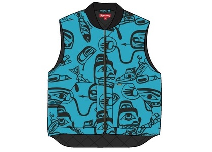 Supreme Haida Work Vest Tealの写真