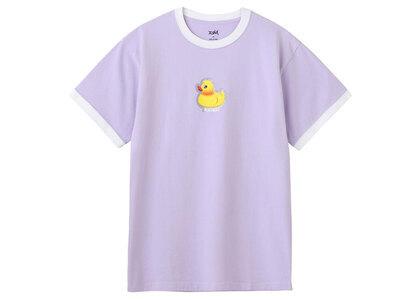 X-Girl Duck Ringer S/S Tee Light Purpleの写真