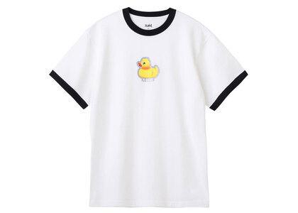 X-Girl Duck Ringer S/S Tee Whiteの写真