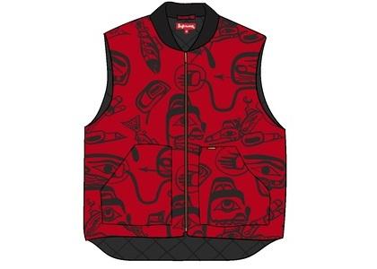 Supreme Haida Work Vest Redの写真