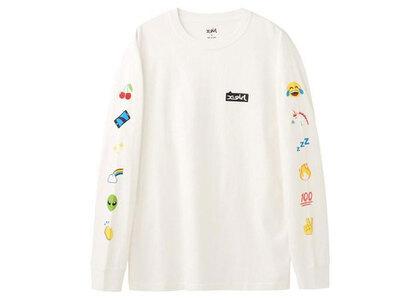 X-Girl Emoji L/S Tee Whiteの写真