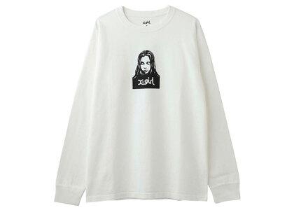 X-Girl Face L/s Tee White (S-XL)の写真