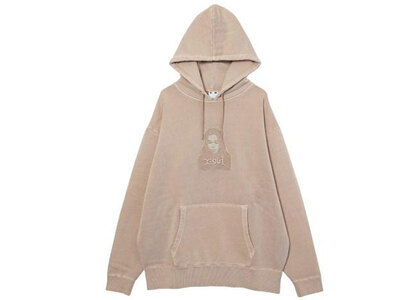 X-Girl Face Pigment Dyed Sweat Hoodie Beigeの写真
