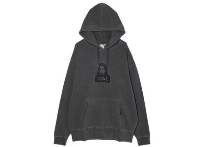 X-Girl Face Pigment Dyed Sweat Hoodie Charcoalの写真