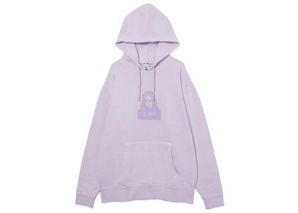 X-Girl Face Pigment Dyed Sweat Hoodie Light Purpleの写真