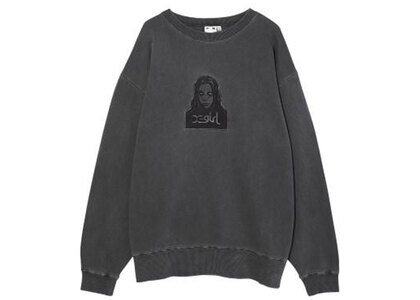 X-Girl Face Pigment Dyed Sweat Top Charcoalの写真