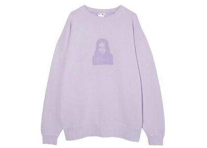 X-Girl Face Pigment Dyed Sweat Top Light Purpleの写真