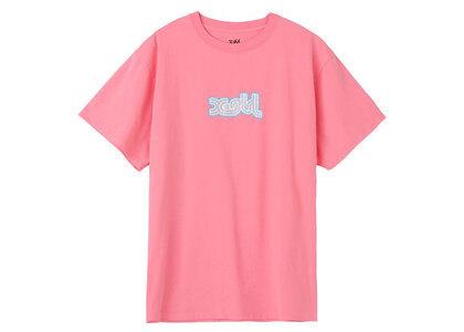 X-Girl Glitter Logo S/S Tee Pinkの写真