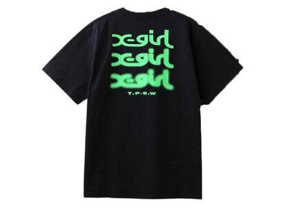 X-Girl Glow Logo S/S Tee Blackの写真