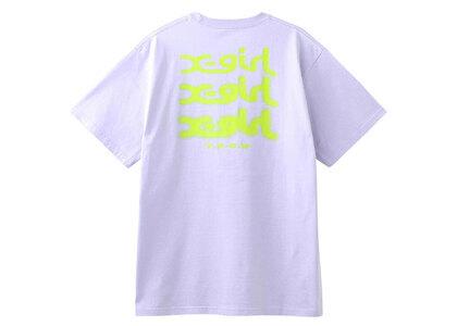X-Girl Glow Logo S/S Tee Light Purpleの写真