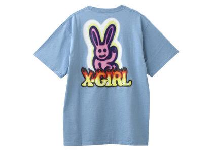 X-Girl Graffiti Bunny S/S Tee Light Blueの写真