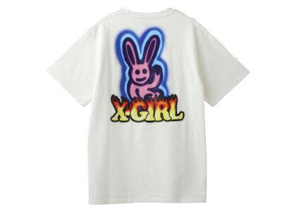 X-Girl Graffiti Bunny S/S Tee Whiteの写真