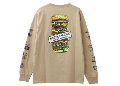 X-Girl Hamburger L/S Tee Beigeの写真