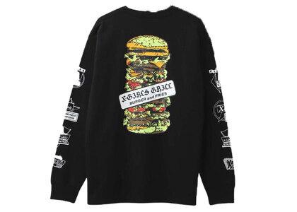 X-Girl Hamburger L/S Tee Blackの写真