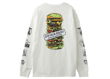 X-Girl Hamburger L/S Tee Whiteの写真