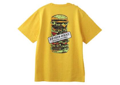 X-Girl Hamburger S/S Tee Yellowの写真