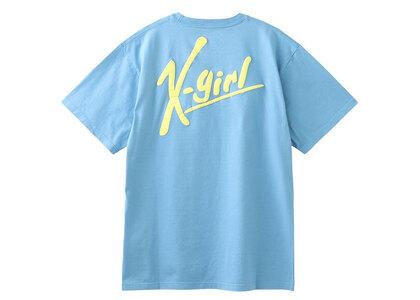 X-Girl Handwriting Logo S/S Tee Light Blueの写真