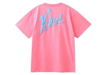 X-Girl Handwriting Logo S/S Tee Pinkの写真