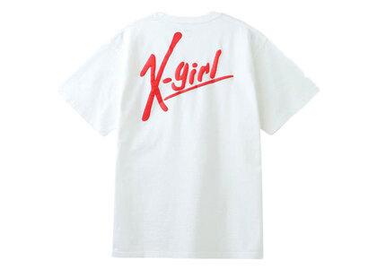 X-Girl Handwriting Logo S/S Tee Whiteの写真