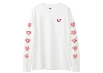 X-Girl Heart Logo L/S Tee Whiteの写真