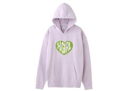 X-Girl Heart Logo Sweat Hoodie Light Purpleの写真