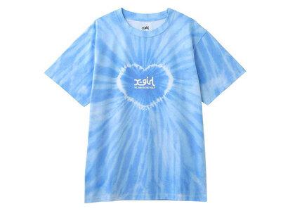 X-Girl Heart Tie-Dye S/S Tee Blueの写真