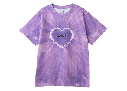 X-Girl Heart Tie-Dye S/S Tee Purpleの写真