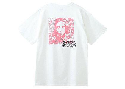 X-Girl Hibiscus Face S/S Tee Whiteの写真