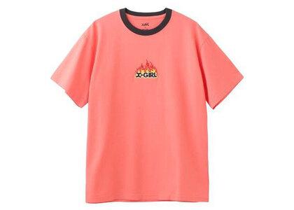 X-Girl Ice Fire Ringer S/S Tee Orangeの写真