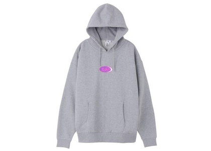 X-Girl Jelly Oval Logo Sweat Hoodie Grayの写真