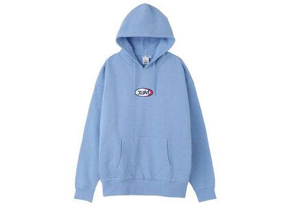 X-Girl Jelly Oval Logo Sweat Hoodie Light Blueの写真