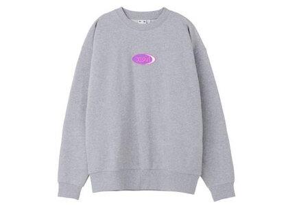 X-Girl Jelly Oval Logo Sweat Top Grayの写真