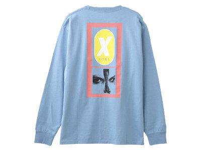 X-Girl Legs L/S Tee Light Blueの写真