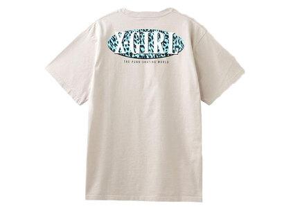 X-Girl Leopard Oval Logo S/S Tee Beigeの写真