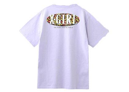 X-Girl Leopard Oval Logo S/S Tee Light Purpleの写真