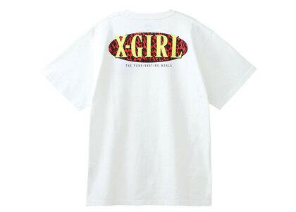 X-Girl Leopard Oval Logo S/S Tee Whiteの写真