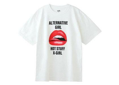 X-Girl Lip S/S Tee Whiteの写真