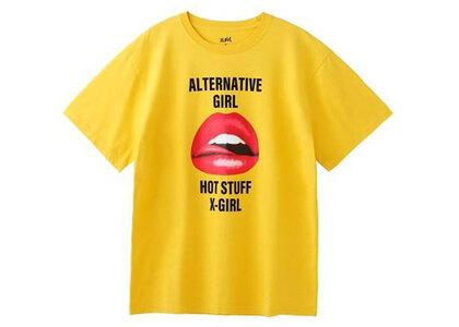 X-Girl Lip S/S Tee Yellowの写真