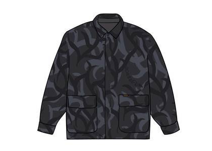 Supreme Reversible Puffy Work Jacket Black Tribal Camoの写真