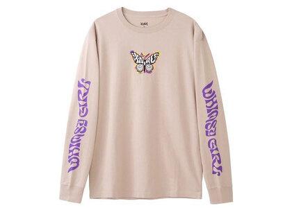 X-Girl Marble Butterfly L/S Tee Beigeの写真