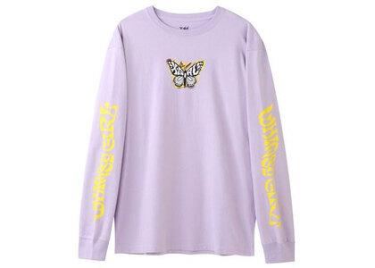 X-Girl Marble Butterfly L/S Tee Light Purpleの写真