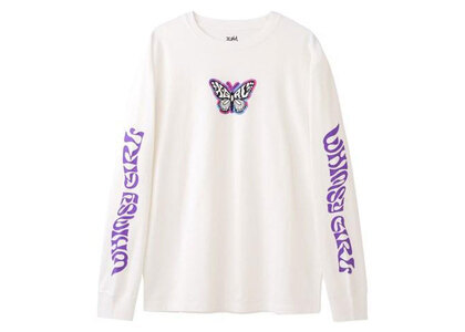 X-Girl Marble Butterfly L/S Tee Whiteの写真