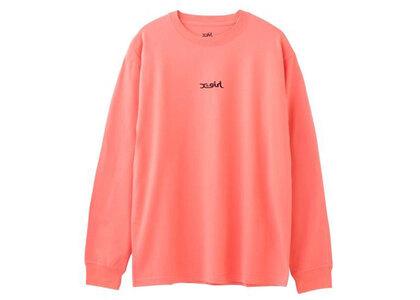 X-Girl Mills Logo L/S Tee Orangeの写真