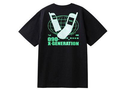 X-Girl Mobile Phone S/S Tee Blackの写真