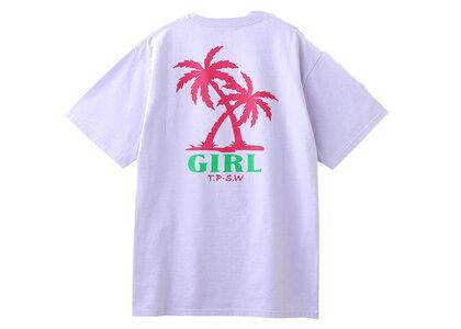 X-Girl Palm Logo S/S Tee Light Purpleの写真