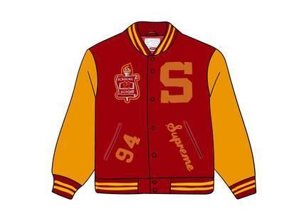 Supreme Team Varsity Jacket Redの写真