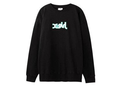 X-Girl Patched Mills Logo Crew Sweat Top Blackの写真